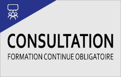Consultation formation continue obligatoire